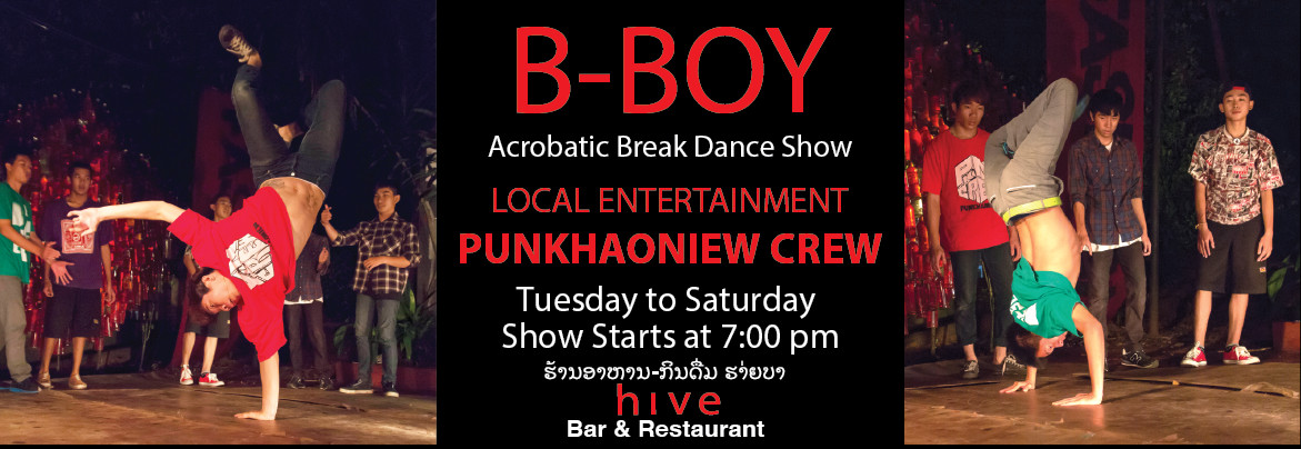 B-Boy Hiphop Show Hive Bar Laos